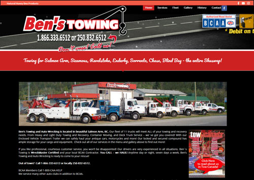 Ben's Towing Salmon Arm, BC