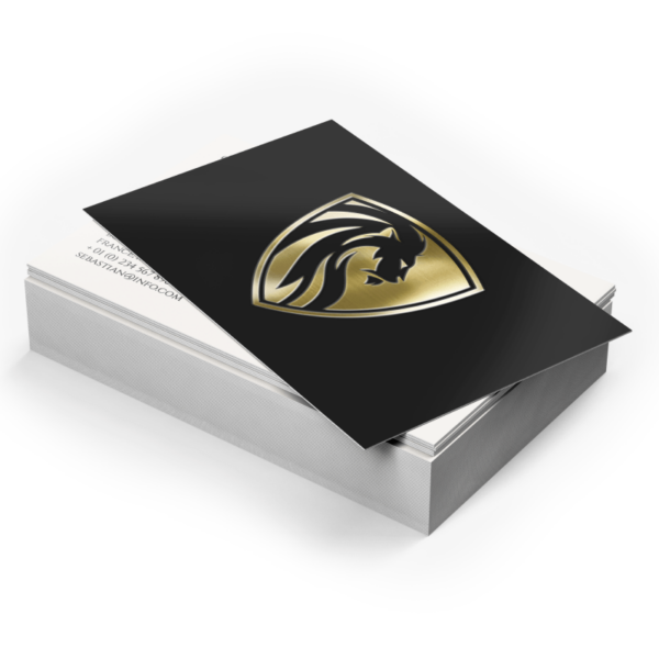 Silver or Gold Business Cards, Enderby, BC, Okanagan, Printing