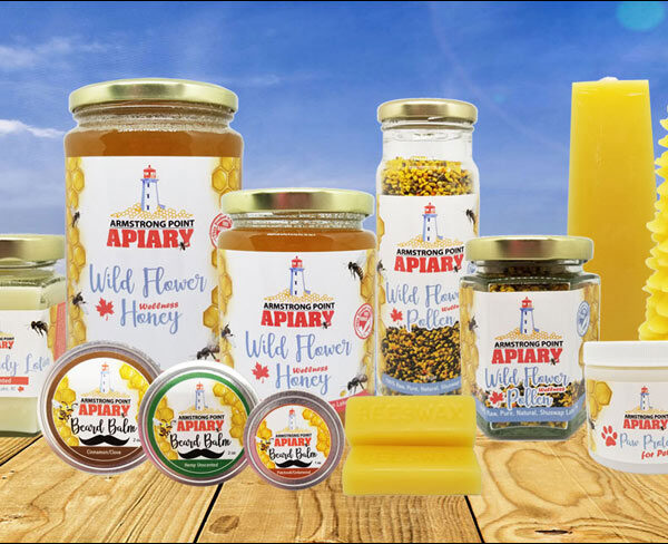 Armstrong Point Apiary, Label Design, Bee Products