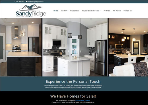 Sandy Ridge Construction Website