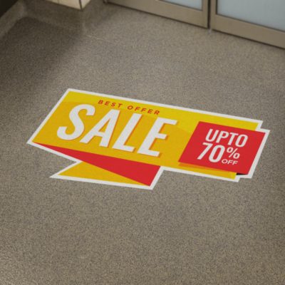 Floor Graphics, Printing, Design, Covid Messages